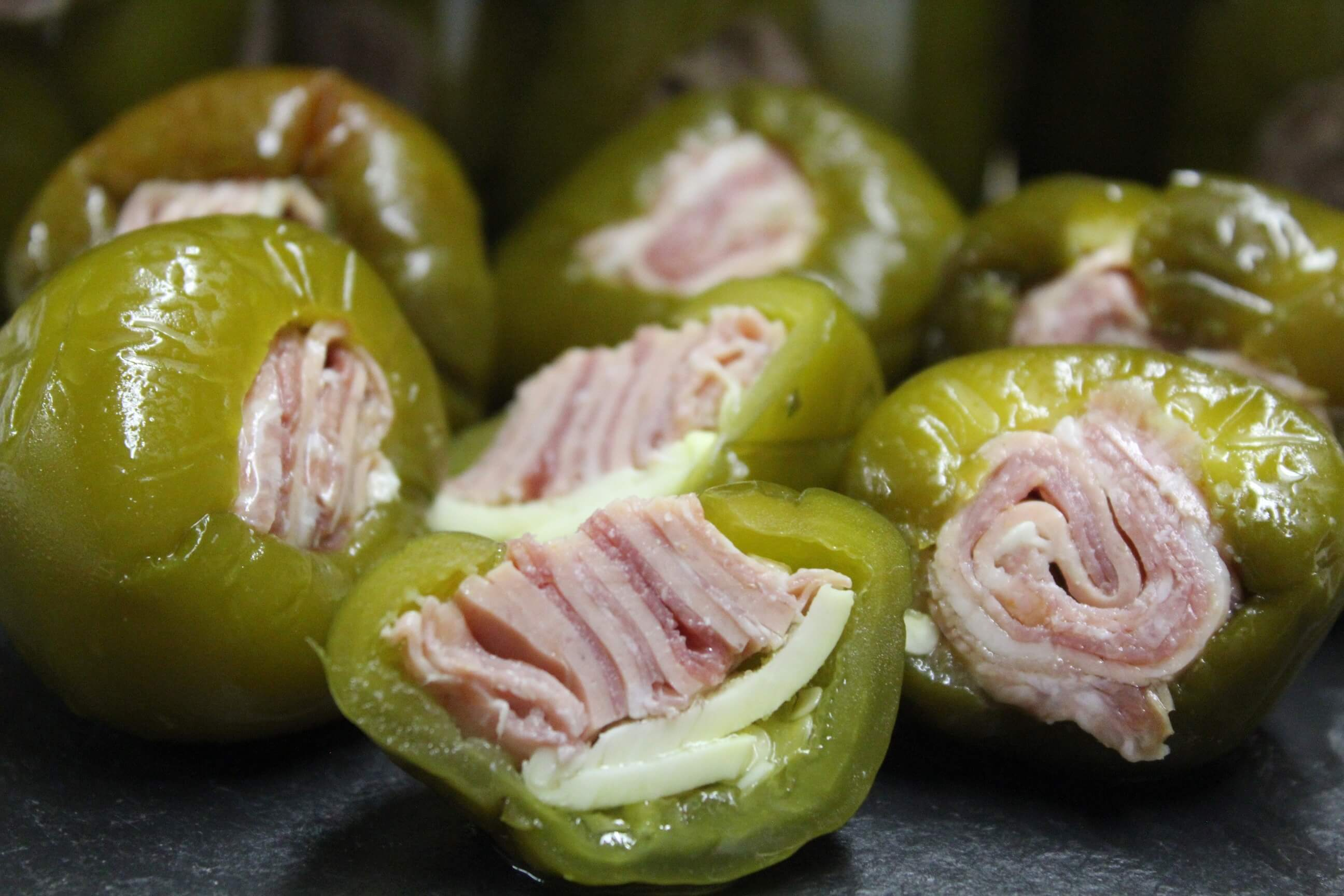 Over Stuffed Cherry Peppers